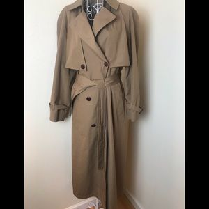 Etienne Aigner  long Tan Trench Coat womens 10